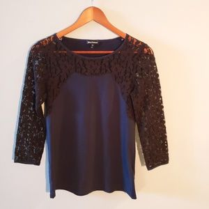 •Juicy Couture• Lace 3/4 Lenght Sleeve Top
